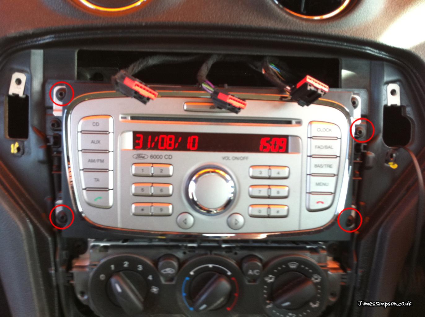 remove ford focus radio