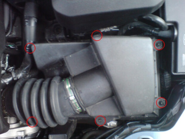 Ford Focus Airbox Remova Screws